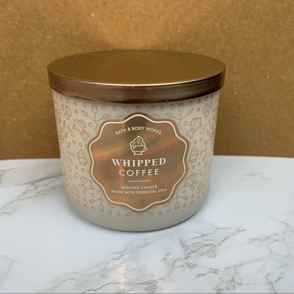 Whipped Coffee Bath & Body Works 3-Wick Candle Brand New Never Burned Before